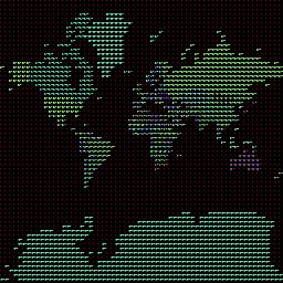 Identification tile of the world